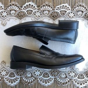 Cole Haan Black Leather Slip On Loafers Size 12